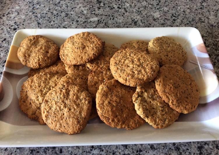 Galleta de semillas y chía. Recetas de cocina fáciles, sencillas y deliciosas